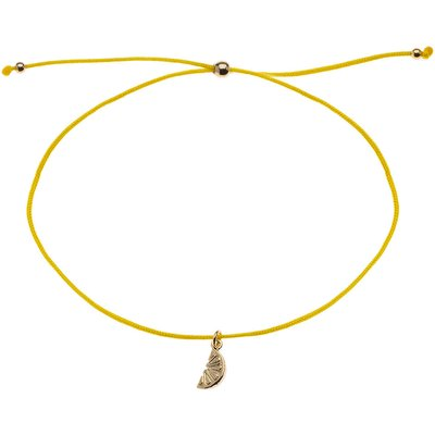Orelia-Bracelets - Lemon Charm Friendship Bracelet - Yellow