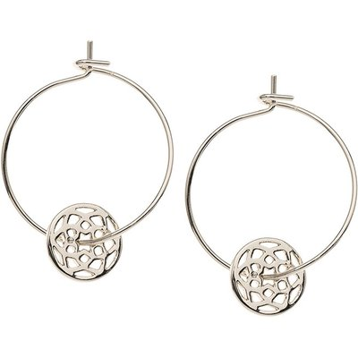 Orelia-Earrings - Chakra Thread Through Hoops - Silver