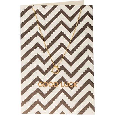 Orelia-Necklaces - Monochrome Good Luck Giftcard - Gold