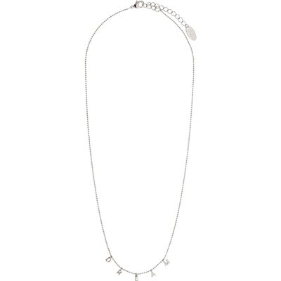 Orelia-Necklaces - Dream Charm Script Necklace - Silver