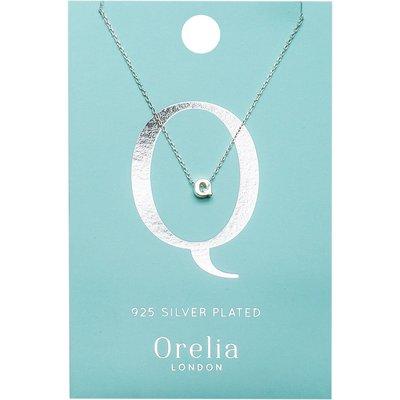 Orelia-Necklaces - Necklace Initial Q - Silver