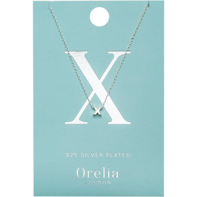 Orelia-Necklaces - Necklace Initial X - Silver
