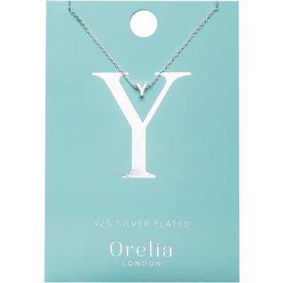 Orelia-Necklaces - Necklace Initial Y - Silver