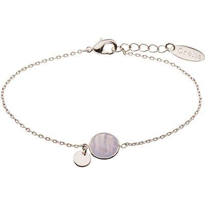 Orelia-Bracelets - Bead Coin Chain Bracelet - Blue