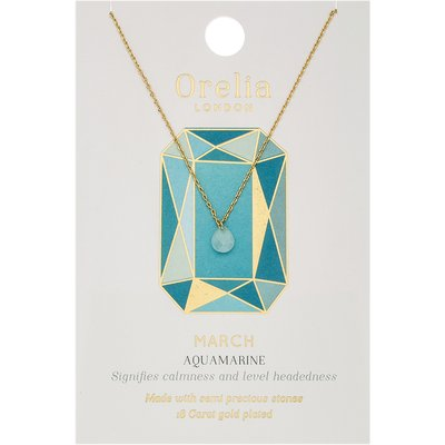 Orelia-Necklaces - March Aquamarine Birthstone - Green