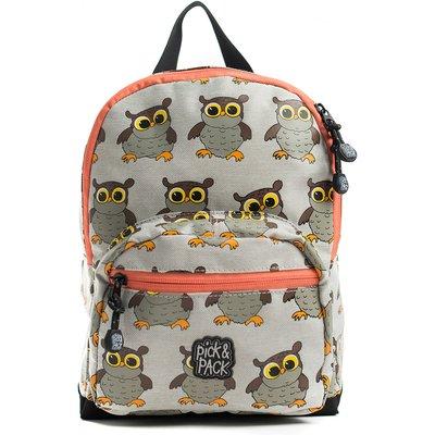 Pick & Pack-Backpacks - Backpack Owl - Grey