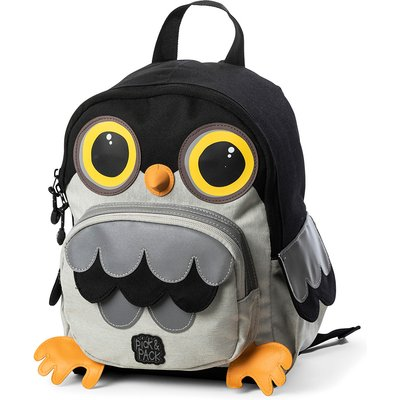 Pick & Pack-Backpacks - Backpack Owl Shape - Black