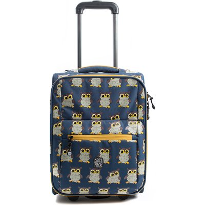 Pick & Pack-Childrens suitcases - Owl Trolley - Blue