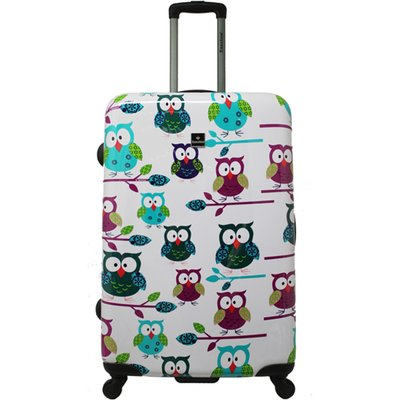 Saxoline-Suitcases - Owls Large Trolley - White