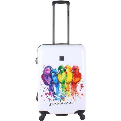 Saxoline-Suitcases - Parrot Medium Trolley - Blue