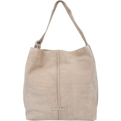 Shabbies-Handbags - Shoulderbag Large Suede - Taupe