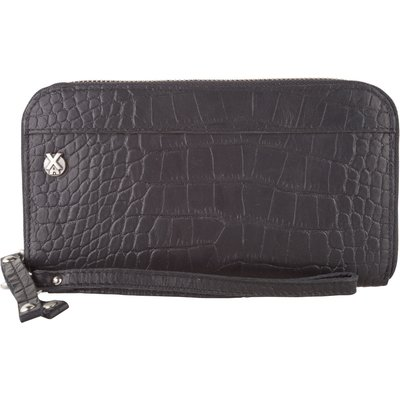 X Works-Wallets - Wallet Niene Croco - Black