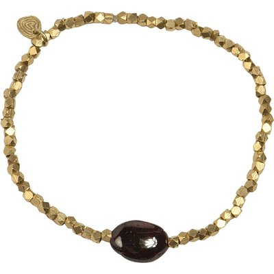 A Beautiful Story-Bracelets - Celebrate Garnet Bracelet - Gold