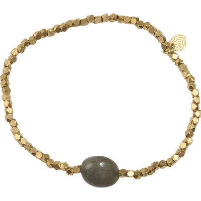 A Beautiful Story-Bracelets - Celebrate Labradorite Bracelet - Gold