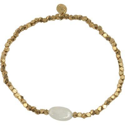 A Beautiful Story-Bracelets - Celebrate Rainbow Moonstone Bracelet - Gold