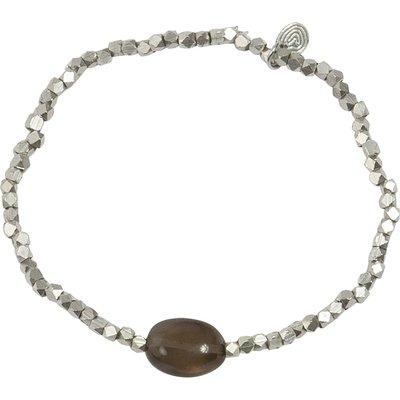 A Beautiful Story-Bracelets - Celebrate Smokey Quartz Bracelet - Silver