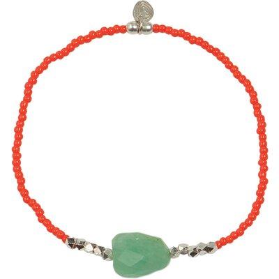 A Beautiful Story-Bracelets - Joy Aventurine Bracelet - Silver