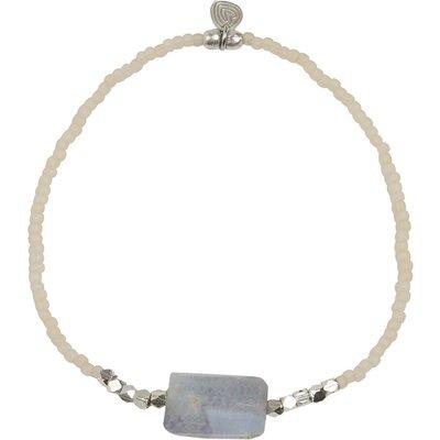 A Beautiful Story-Bracelets - Joy Blue Lace Agate Bracelet - Silver