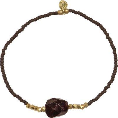 A Beautiful Story-Bracelets - Joy Garnet Bracelet - Gold