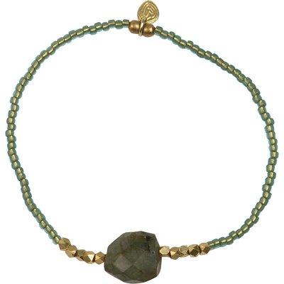 A Beautiful Story-Bracelets - Joy Labradorite Bracelet - Gold