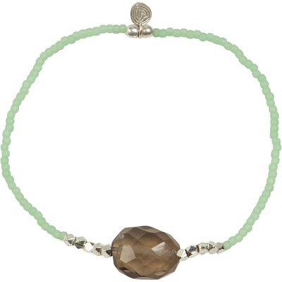 A Beautiful Story-Bracelets - Joy Smokey Quartz Bracelet - Green