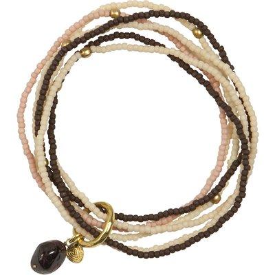 A Beautiful Story-Bracelets - Nirmala Garnet Bracelet - White