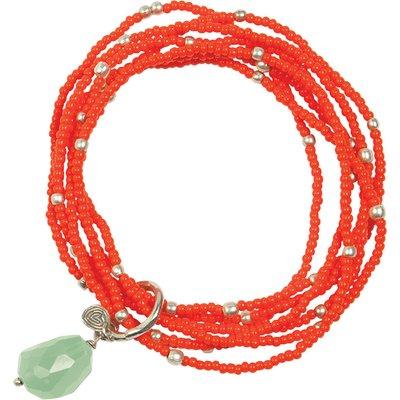A Beautiful Story-Bracelets - Nirmala Aventurine Bracelet - Silver