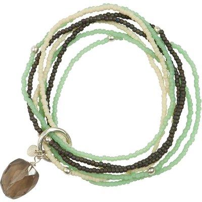 A Beautiful Story-Bracelets - Nirmala Smokey Quartz Mix Bracelet - Silver
