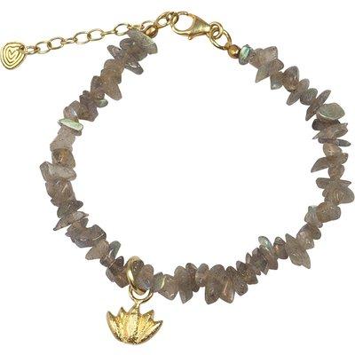 A Beautiful Story-Bracelets - Power Labradorite Lotus Bracelet - Gold