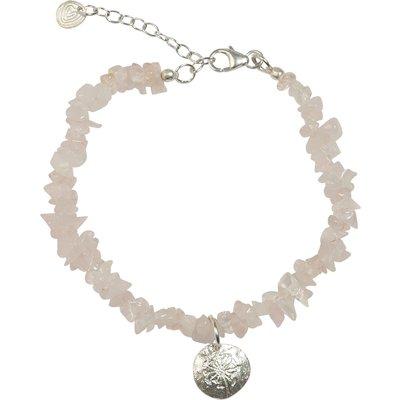 A Beautiful Story-Bracelets - Power Rose Quartz Bracelet - Silver