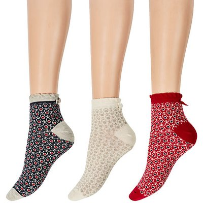 Charnos Floral Trainer Liners 3PP