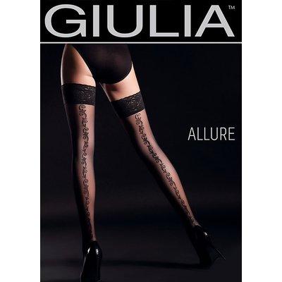 Giulia Allure Floral Backseam Hold Ups N.2