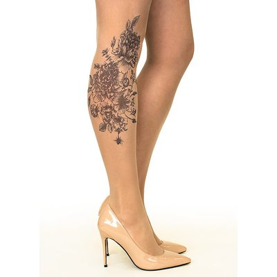 Stop And Stare Black Garden Tights