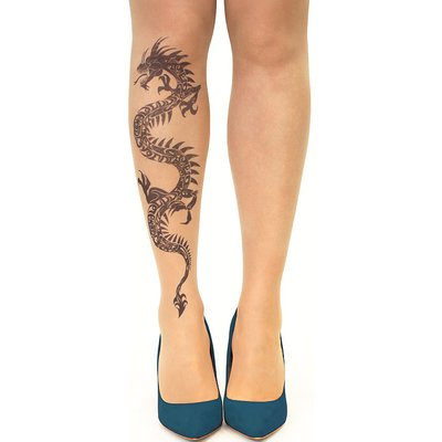 Stop And Stare Black Dragon Tights