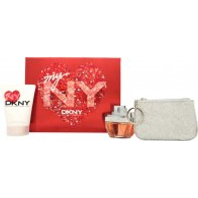 DKNY My NY Gift Set 50ml EDP Spray   100ml Body Wash   Purse - 0022548326992