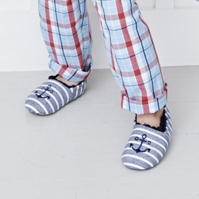 Anchor Stripe Slippers