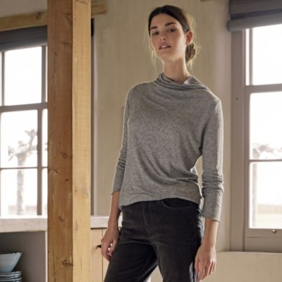 Double Layer Roll-Neck Top