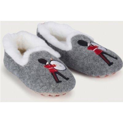 London Applique Slippers