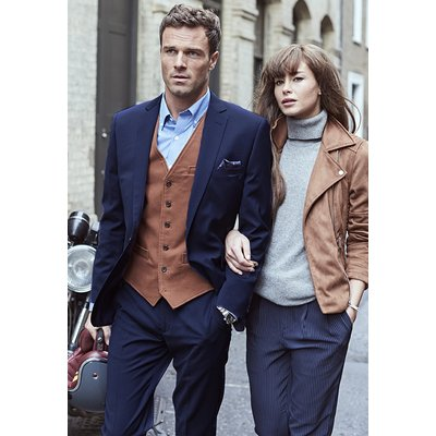 Cassino Blue Tailored Fit Washable Crease Resistant Suit