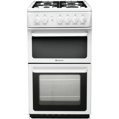 5016108623527: Hotpoint HAG51P 50cm Freestanding Gas Cooker in Polar White with FSD