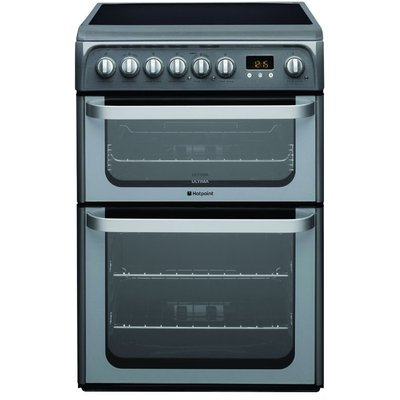 Hotpoint HUE61GS 60cm Freestanding Electric Cooker in Graphite 5016108810200