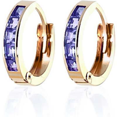Tanzanite Huggie Earrings 0.95ctw in 9ct Gold
