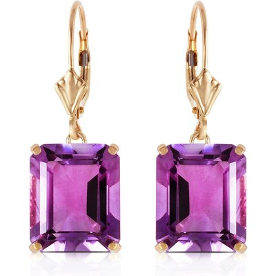 Amethyst Drop Earrings 13.0ctw in 9ct Gold