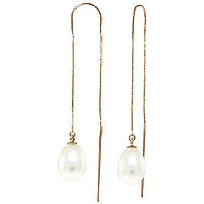 Pearl Scintilla Briolette Earrings 8.0ctw in 9ct Gold
