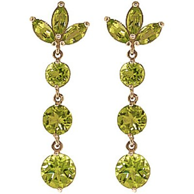 Peridot Petal Drop Earrings 8.7ctw in 9ct Gold