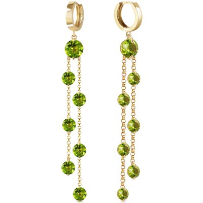 Peridot Roman Drop Earrings 9.02ctw in 9ct Gold