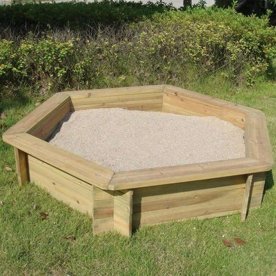 Charles Bentley Wooden Outdoor Hexagonal Sand Box