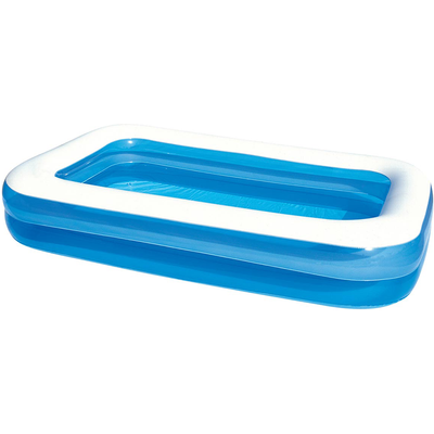 Charles Bentley Bestway Children's Kids Family Rectangular Inflatable Paddling Pool