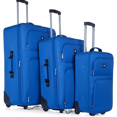Revelation by Antler 3-Piece Alex Soft Suitcase Set - Blue
