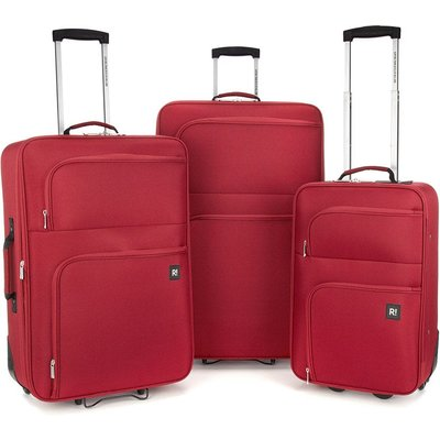 Revelation by Antler 3-Piece Alex Soft Suitcase Set - Red